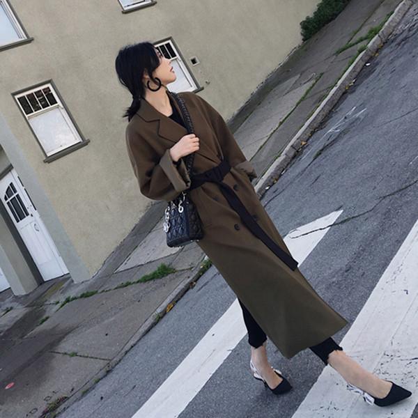 2019 Nouvelle arrivée Coton peignée pleine Trench pour les femmes Casaco Feminino coupe-vent femmes New Coat est lâche en automne
