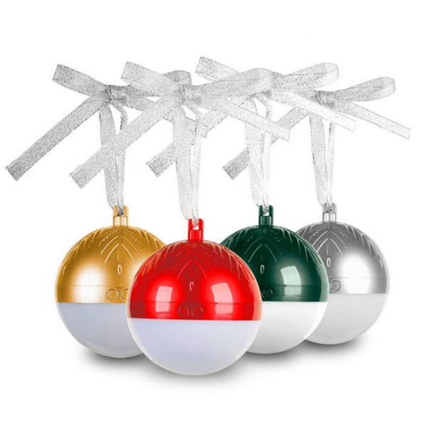 Portable Colorful LED Christmas Ball Bluetooth Speaker mini portable gifts audio support for the box Internet left and right channels