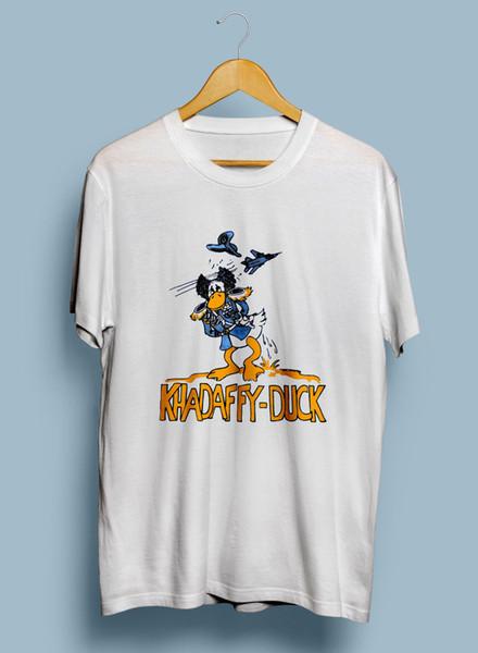 Vtg Rare SCREEN STARS T Shirt Gaddafi Khadaffy-Duck humour 80's Funny free shipping Unisex Casual Tshirt