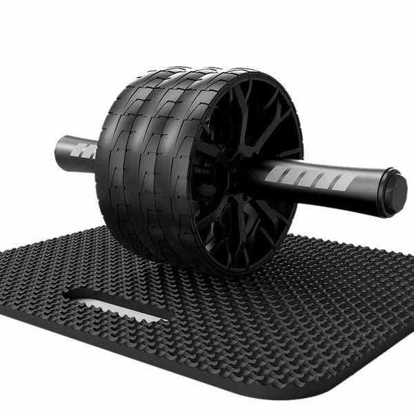 top popular Hot AD-Fitness Belly Wheel Multifunctional Abdominal Device Three-Wheel Rolling Belly Wheel Silent Bearing Fitness Equipment Mus 2021