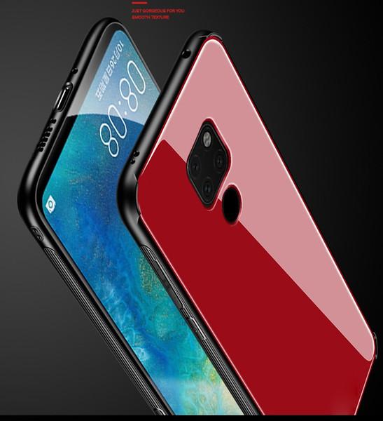 Trempé Verre Silicone Bord Téléphone Étui souple Pour Huawei P30 Pro P smart 2019 Novembre 4