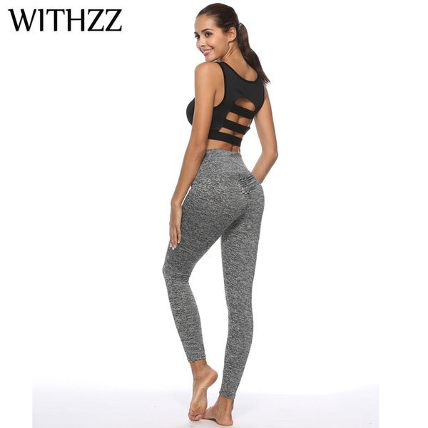 Withzz Woman's Pants Behind Sexy Leggings Women Leggins Elbows For Fitness Legins Push Up Workout Jeggings Tayt Sportleggings Q190510