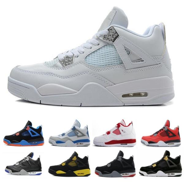 Compre Nike Air Jordan Aj4 Retro Zapatillas De Baloncesto Para Hombre 4 4s Cactus Jack Cemento Blanco Juego Royal Motor La Mejor Calidad Zapatillas