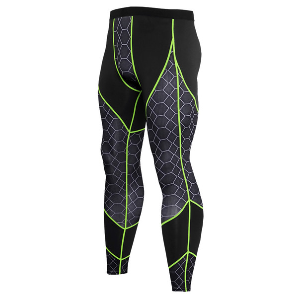 Quick Dry Sports Compression Pants Men Fitness Tights Yoga Pants Exercise Long Trousers Gym Running Skinny Leggins Hombre