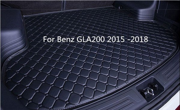 For Benz GLA200 2015 -2018 Luxury Hand-made Car Rear Cargo Boot Trunk liner Mat Pad