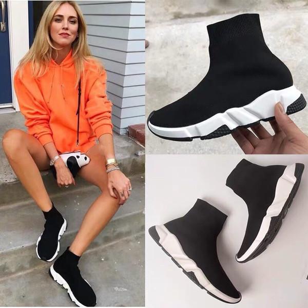Novos 2019 meias de luxo sapatos, sapatos casuais brancos, homens e mulheres, Oero tênis preto, botas, tênis, sapatos de grife.