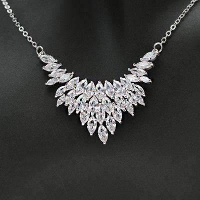 2019 moda nova simples noiva zircon set cadeia / bridal wedding jewelry colar brincos set / na loja para escolher mais estilos
