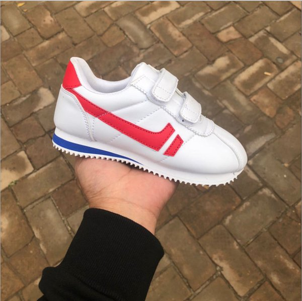 best selling NEW gift Leather shoe Child Sport Shoes  Boys Girls Sneakers,Casual Athletic Shoes Children Running Shoes for Kids shoes hook loop size25-35