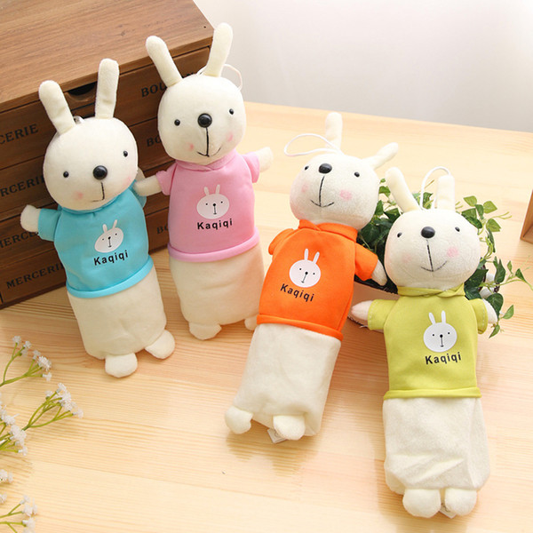 Cute Cartoon Kawaii Plush Pencil Case Creative Lovely Rabbit Pen Bag For Kids Gift School Supplies Size: 5*30cm