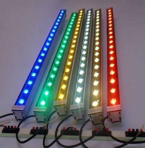 10pcs LED Mur Rondelle 6W 9W 12W 36W DMX 512 110V 220V RVB Led Lumière D'inondation IP65 Éclairage Extérieur Jardin Bâtiment Pont Paysage