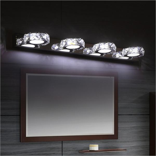 Modern Crystal Mirror Lamp bathroom LED Wall Light bedroom vanity mirror light Cabinet corridor wall lamp sconce lighting AC85-265V