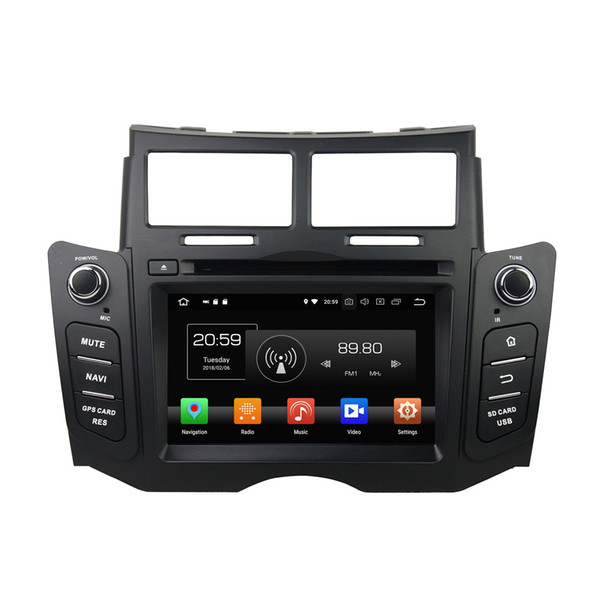 """4GB+32GB Octa Core 6.2"""" Android 8.0 Car DVD Player for Toyota Yaris 2005-2011 RDS Radio GPS Bluetooth WIFI USB Mirror-link"""