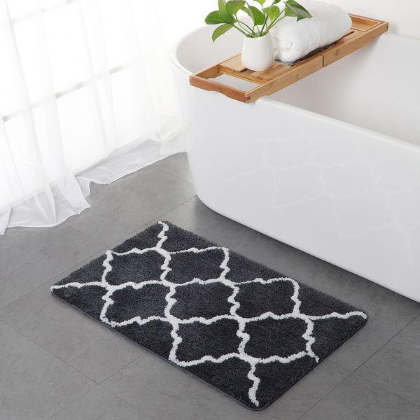 Corduroy Crown Door Cushion Breathable Water Absorption Living Room Bedroom  Carpet Floor Mat Bathroom Non Sliding Pad Carpet Tiles Design Carpet Tiles  ...