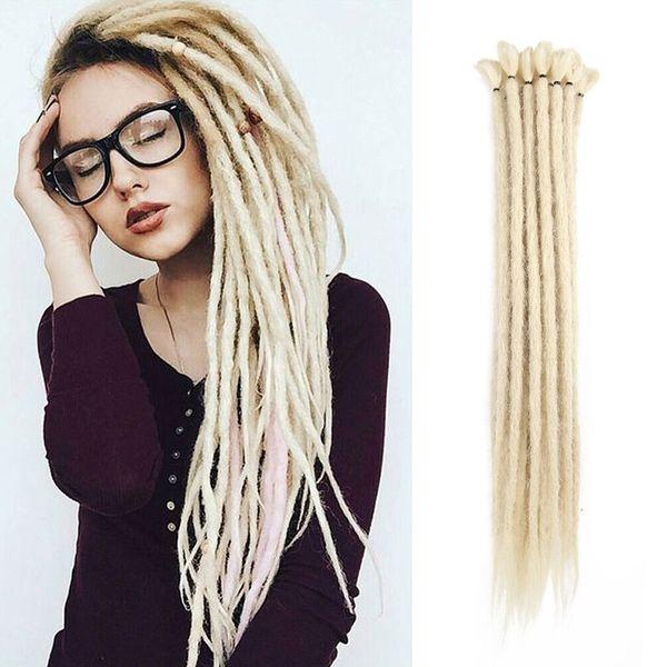 Jamaica African Dreadlocs 20 pulgadas de alta temperatura Extensiones de cabello Dreadlocks 5 hebras / paquete Trenzas de ganchillo de color puro Twist Hair sintético