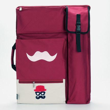 Mustache Cute Art Bag For Drawing Tools Waterproof Large Art Supplies Bag Painting Sketch Bag Backpack For Artist 50*65cm Y19061804