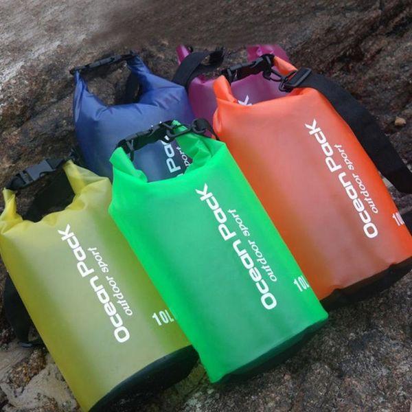 Portable 5/10/15/20L Waterproof Bag Storage Dry Bag for Canoe Kayak Rafting Sports Outdoor Camping Travel Kit Equipment #324691