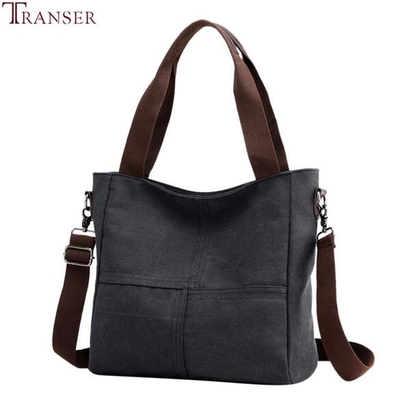 Transer Donne Canvas Tote signore casuali spalla sacchetto pieghevole Shopping Bags panno di cotone femminile borsa grande capacità Tote Bag