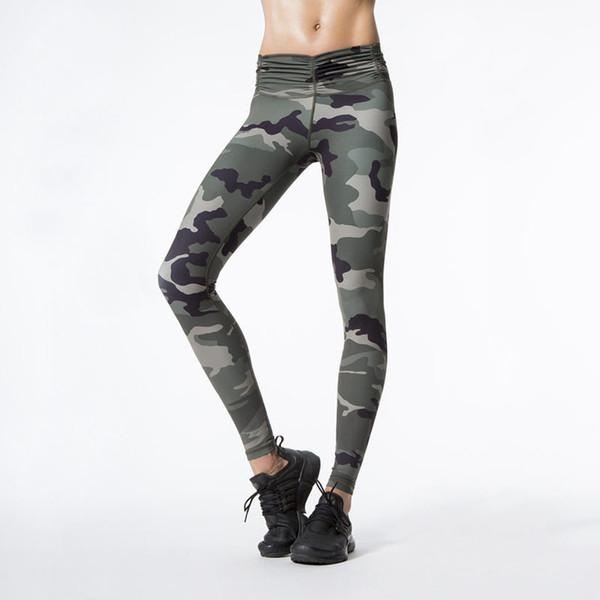Harajuku Camuflaje Imprimir Fitness Legging pantalones femeninos Athleisure delgado sexy culturismo leggings para mujeres Legins envío de la gota