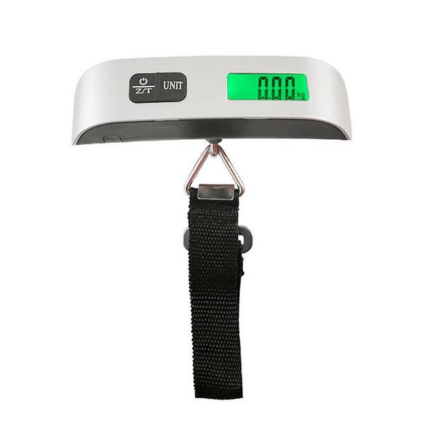 110lb / 50 kg Balança de Bagagem Digital Portátil Portátil Escala de Viagem Pesa Saco de Bagagem Pendurado Escalas Balanço de Peso LCD 2 estilos