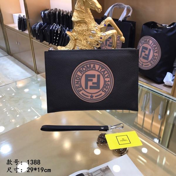 Men's handbag 2019 new explosions trend color matching clutch bag mobile phone bag holder