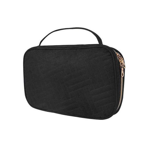 Jóias Organizador de Viagem, viajando Saco de Jóias Caso Para Brinco Colar Anéis Assista Pulseiras, Make Up Bags 2-Em-1 Cosméticos