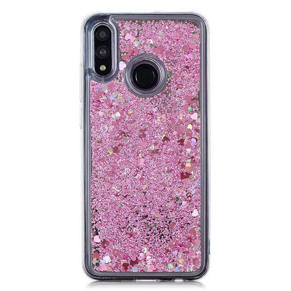 For Huawei Honor 10 Lite/P Smart 2019 Case Cover Quicksand Flash Glitter Powder Mirror Hard Mobile Phone Cases
