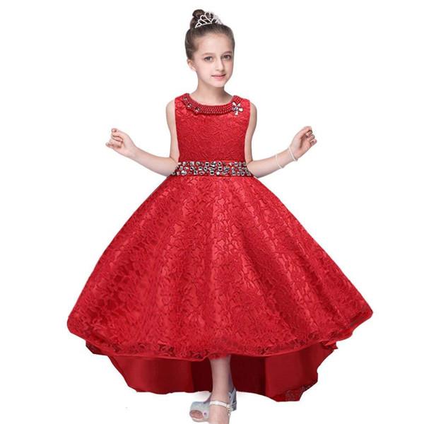 Compre Vestido De Boda Para Niñas Vestido De Encaje Para Damas De Honor Hi Low Vestidos Para Niña De Flores Ocasión Formal A 891 Del Fbdh05