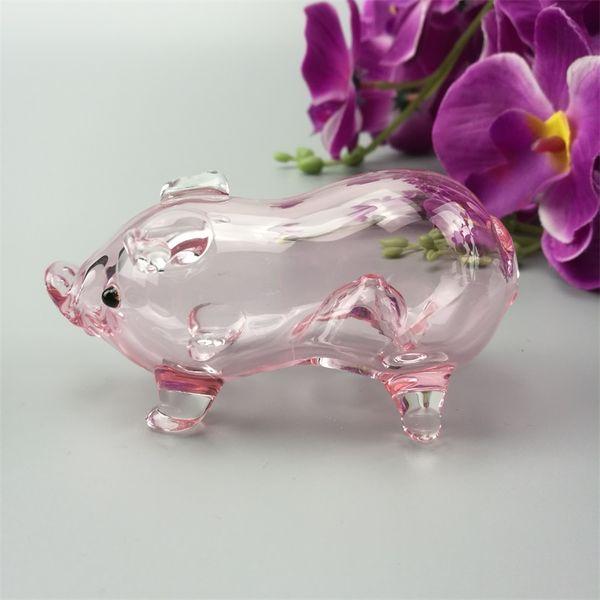 Стеклянные курительные трубки розовых свинки стеклянная ложки труба ручной мини стеклянных трубы ручных трубы кальян затяжки
