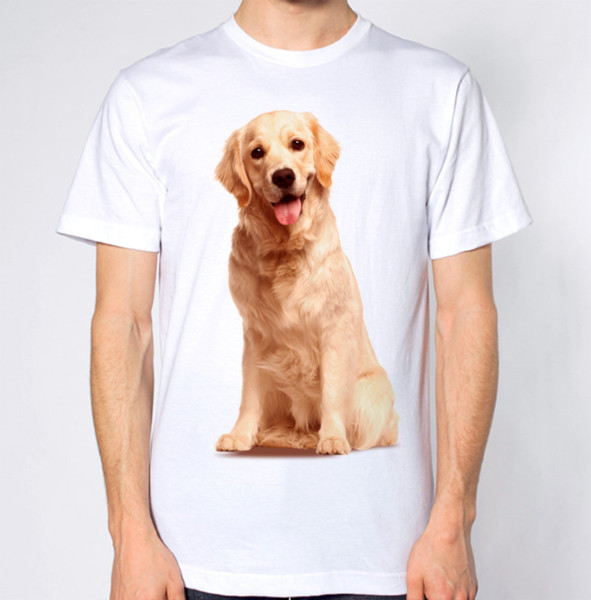 Golden Retriever T-Shirt Dog Top Fashion Classic Loose High Quality Personality Breathable Print O-Neck T Shirt