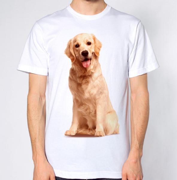 Maglietta Golden Retriever T-Shirt Dog Top Fashion Classic Maglietta girocollo stampata traspirante