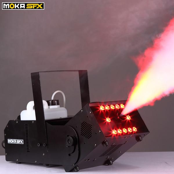 best selling 1500w 12*3w LED Multi-angle fog machine special effect fog machine 6 channels wireless control smoke machine stage light effect