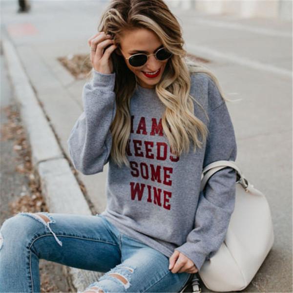 Felpe con cappuccio da donna a maniche lunghe autunno autunno con cappuccio Tuta Felpa con stampa a lettera Top Outwear