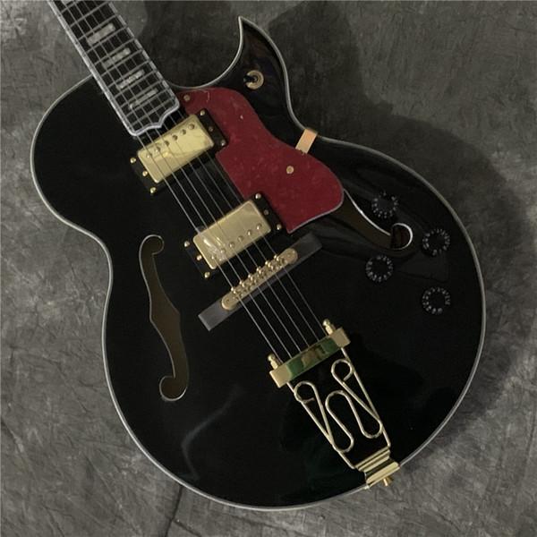 Guitarra frete grátis Top Quality 41''Byrdland elétrica completa do corpo oco guitarra Grover Tuner
