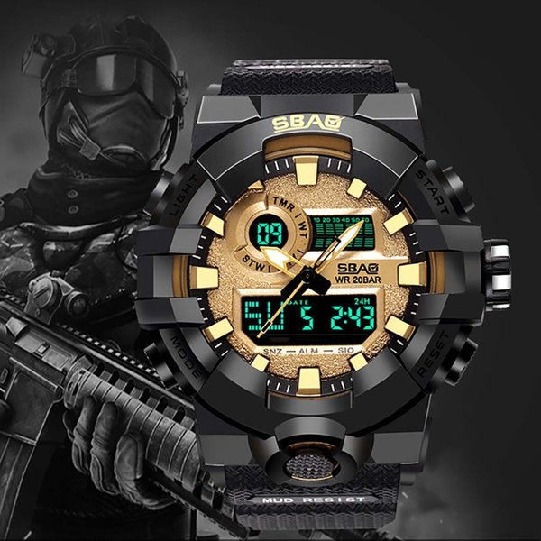 New Men Sports Watches Big Dial Top Brand Digital Watch For Men LED Waterproof Wristwatches CC