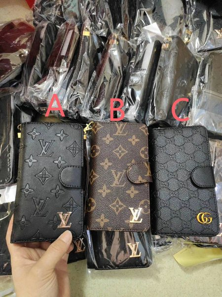 Brand de ign multi card lot flip wallet cover leather phone ca e for iphone am ung huawei oppo vivo mobile phone univer al leather ca e