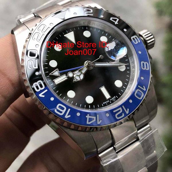 N Mejor Calidad Relojes de lujo Versión V5 GMT Movimiento Buceo Reloj Negro Cerámica Zafiro Cristal 40mm 116710 Reloj para hombre GMT