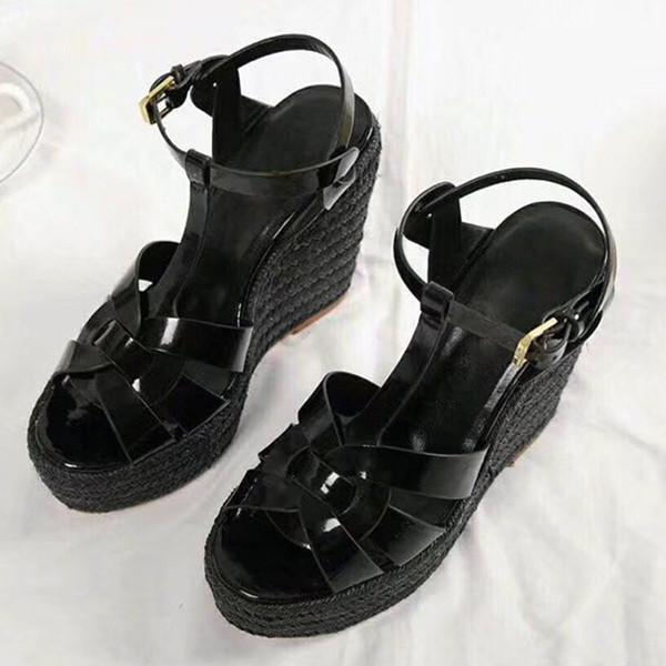뜨거운 판매 여름 여성 샌들 신발 여성 펌프 플랫폼 웨지 뒤꿈치 패션 캐주얼 루프 Bling Star 두꺼운 유일한 여성 신발