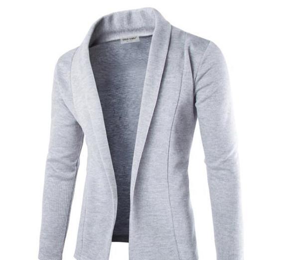Fashion Concise V-Neck Sweater Coat Cardigan Sweater Men Solid Color Slim Mens Cardigan Sweater Coat Man Cardigan for Men Free Hot Sale