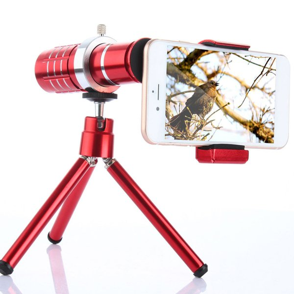 Universal 12X Zoom Camera Telephoto Telescope Lens With Mount Tripod For iPhone Xiaomi