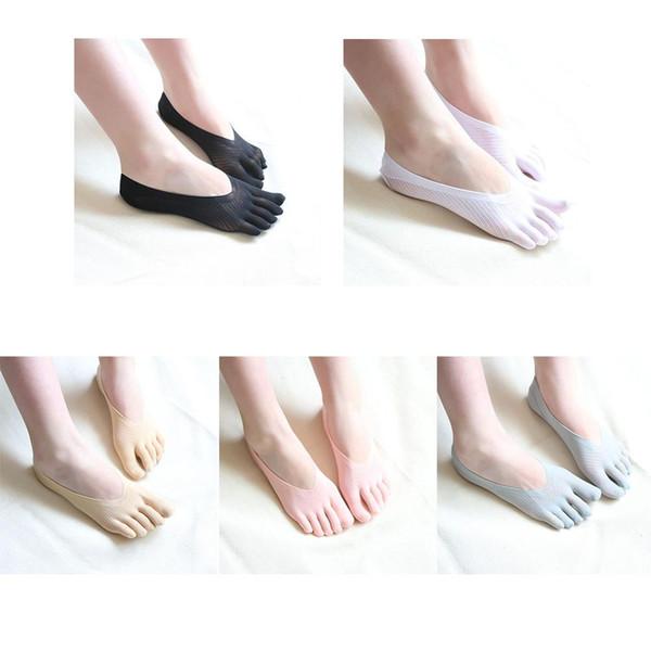 1 paire Nouvelle Arrivée Chaussettes De Mode Chaussettes Chaussettes Cinq Bout Chaussettes Invisibilité Pour Solide Couleur Cinq Doigts meias