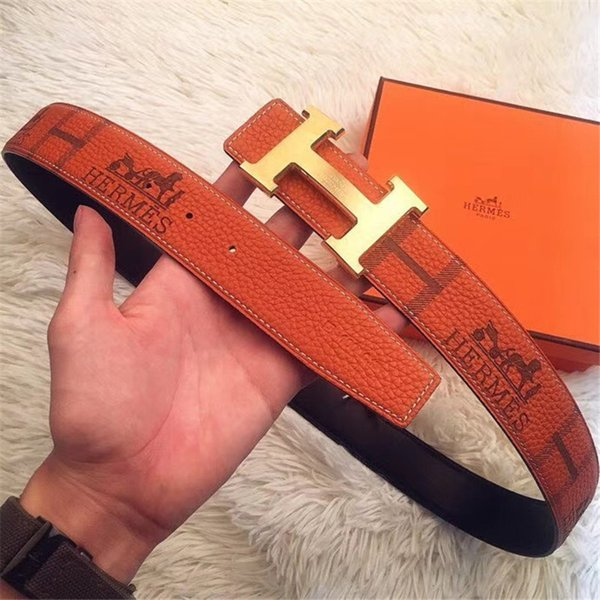 De ign belt fa hion brand belt men and women de ign 100 genuine leather mooth teel buckle belt for men a885, Black;brown
