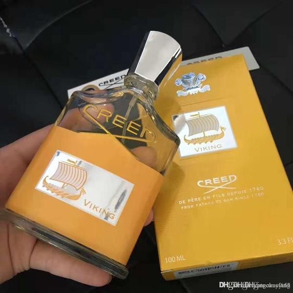Creed Vierge d'or Parfum Parfum Homme 100ml Jaune Hommes Bouteille d'or avec Long Lasting Fragrance Haute Bonne qualité de Noël parfum