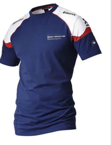 Motorsport Tripulação Pescoço de Manga Curta T-Shirts Dos Homens Fino Da Motocicleta Roupas de Corrida Tops Adolescente Impressão Moto Tshirts Hoomes Azul Tees