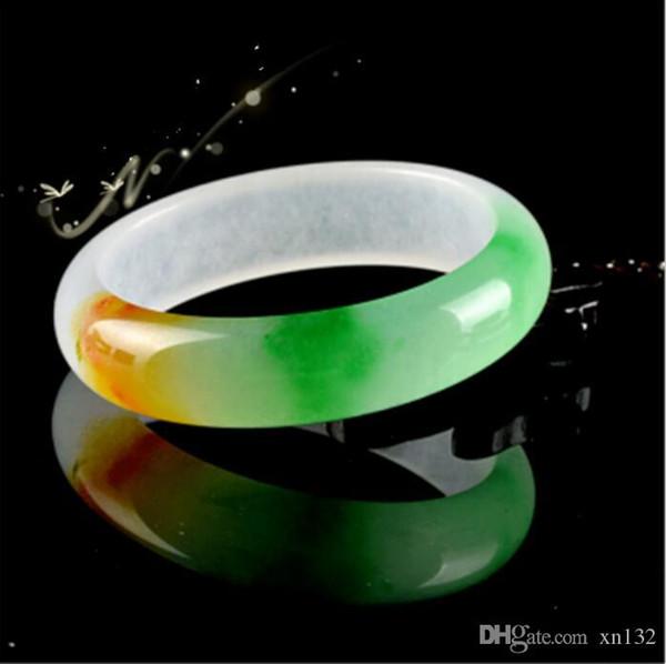 Natural green jade pulseira moda charme Multi colorido jóias momento da mão presente da sorte quente