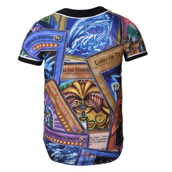 Moda 3D Men Baseball Shirt Sport Jerseys de boa qualidade com botão Venda on-line 55