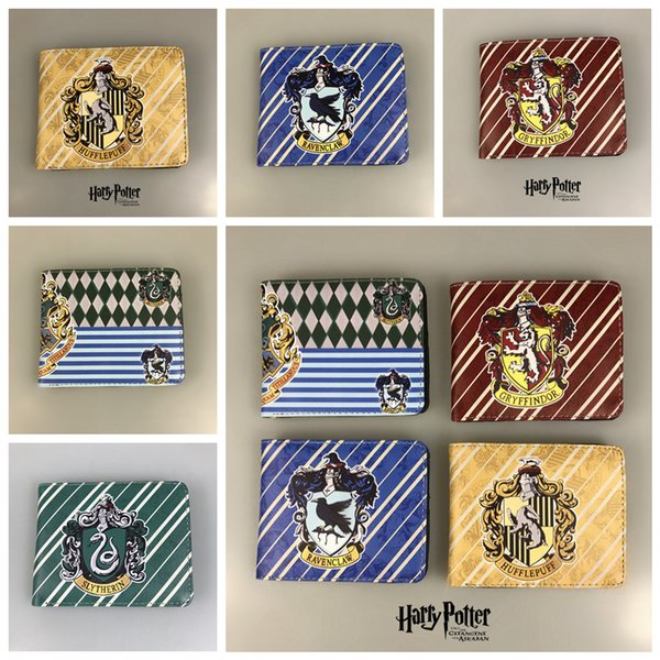 5styles Harry Potter short kids cartoon Wallets Purses Short Leather Men Anime Magic Wallets Cards Zipper card holder party gift FFA2225