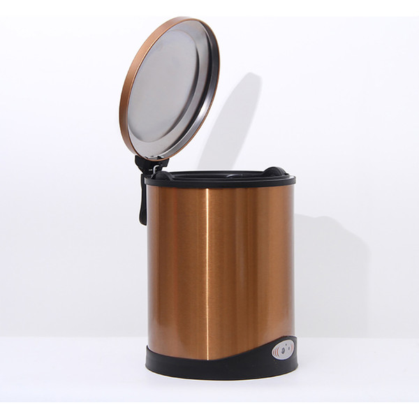 Small Automatic Trash Can Touchless Intelligent Induction Garbage Bin With Inner Bucket Contactless Circulator Quiet Lid Close Can Nature