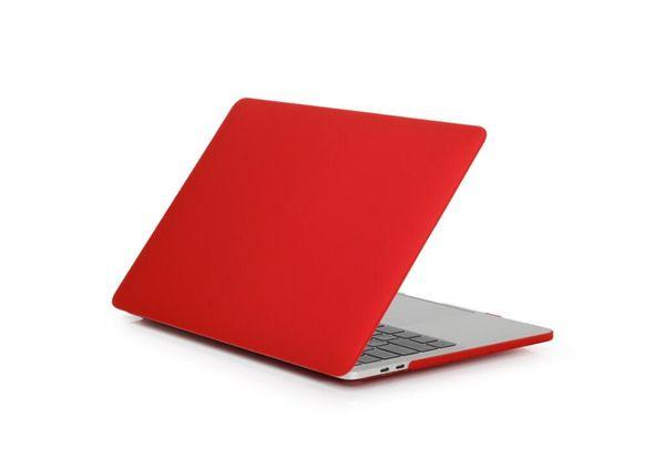 Étui de protection en plastique dur dépoli mat pour 11 12 13 15 pouces Macbook Air Pro rétine caoutchouté PC Shell Cover Cover
