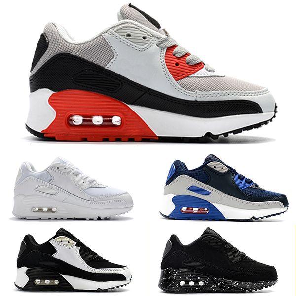 Acheter Nike Air Max 90 Kids Sneakers Presto 90 II Chaussure Sport Enfants Orthopédique Jeunesse Formateurs Enfants Infant Filles Garçons Chaussures