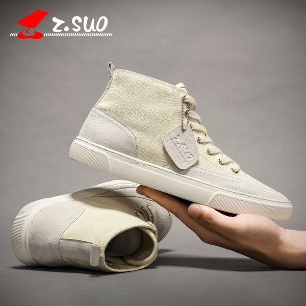 2019 new pull back canvas shoes men's summer shoes breathable casual shoes